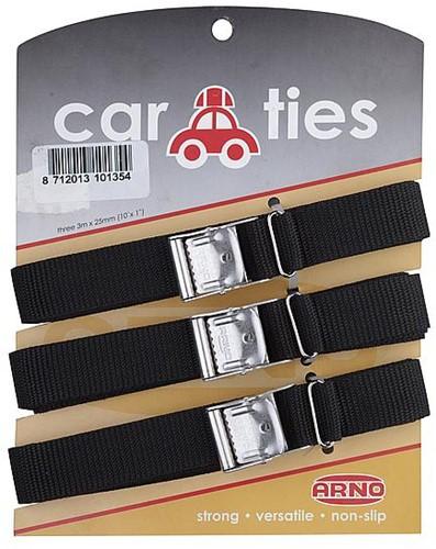 Arno Car Ties 25mm 3 pieces