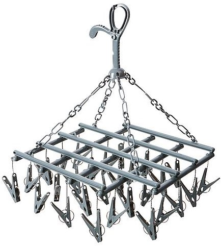 Bo-Camp Drying carrousel Collapsible 28 pegs grey