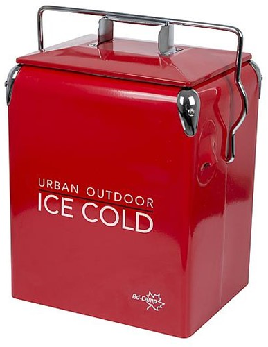 Bo-Camp Urban Outdoor Retro Cooler Greenwich red
