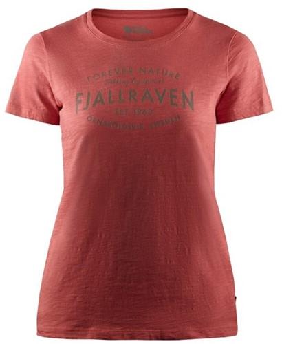Fjallraven Est. 1960 T-Shirt Frauen rot S