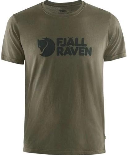Fjallraven Logo T-shirt Herren Olive XL