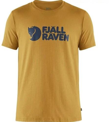 Fjallraven Logo T-shirt Herren gelb XL