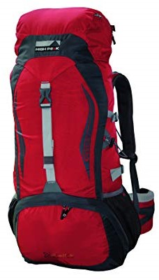 High Peak Geolite 52+10L red/dark grey
