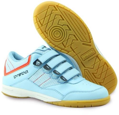 Brabo Indoor Velcro Kids light blue/orange 31 (20/21)