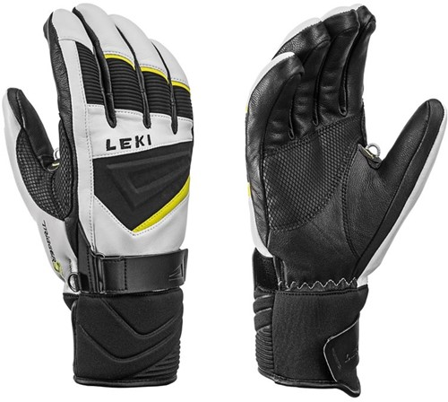Leki Griffin S white-black-lime 8