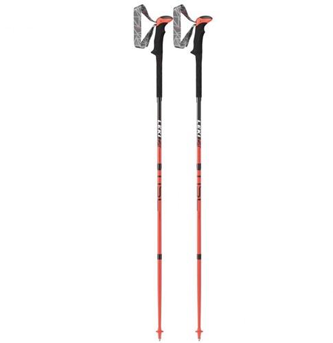 Leki Micro Stick Carbon rot/grau 130 cm