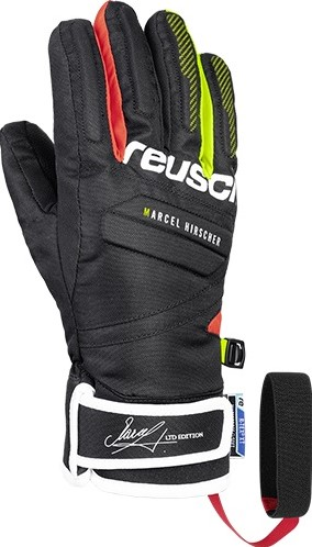 Marcel Hirscher R-TEX  XT Jr. gloves black/fire red 5