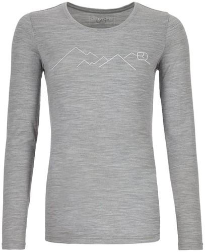 Ortovox 185 Merino Mountain Long Sleeve W grey-blend XS