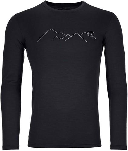 Ortovox 185 Merino Mountain Long Sleeve M black-raven S