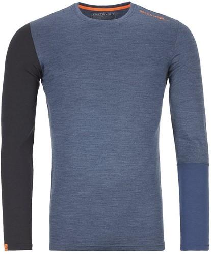 Ortovox 185 Rock'N'Wool Long Sleeve M night-blue-blend XXL