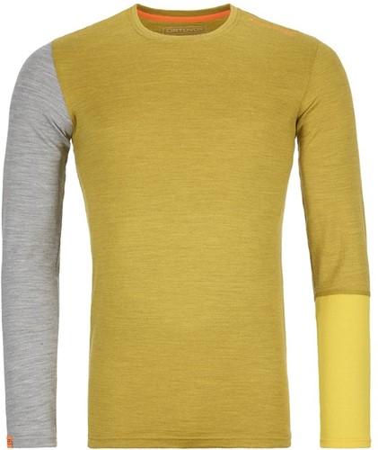 Ortovox 185 Rock'N'Wool Long Sleeve M yellow-corn-blend XL