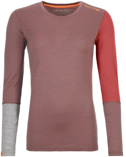Ortovox 185 Rock'N'Wool Long Sleeve W blush-blend XL
