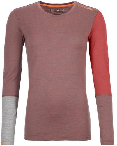 Ortovox 185 Rock'N'Wool Long Sleeve W blush-blend XS