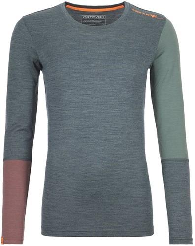 Ortovox 185 Rock'N'Wool Long Sleeve W green-forest-blend L