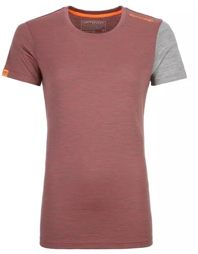 Ortovox 185 Rock'N'Wool Short Sleeve Frauen rot XL
