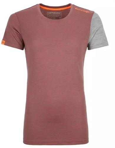 Ortovox 185 Rock'N'Wool Short Sleeve Frauen rot L