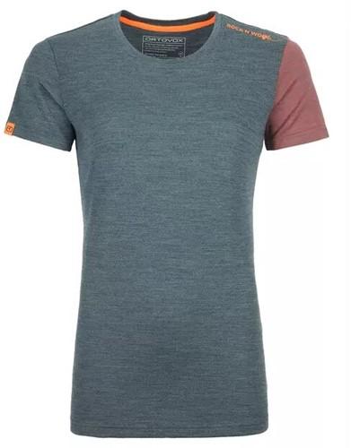 Ortovox 185 Rock'N'Wool Short Sleeve Frauen grün M