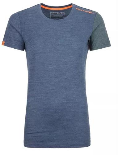 Ortovox 185 Rock'N'Wool Short Sleeve Frauen blau L