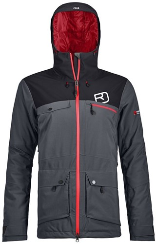 Ortovox 2L Swisswool Andermatt Jacket W black-steel S