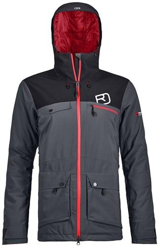 Ortovox 2L Swisswool Andermatt Jacket W black-steel XS