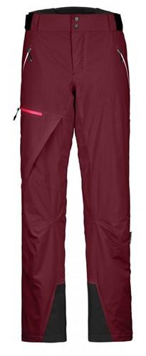 Ortovox 2L Swisswool Andermatt Pants W dark-blood M