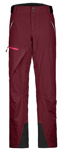 Ortovox 2L Swisswool Andermatt Pants W dark-blood S