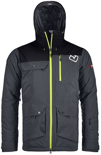 Ortovox 2L Swisswool Andermatt Jacket M black-steel XL