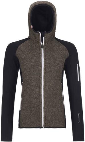Ortovox Fleece Plus Classic Knit Hoody W black-raven S