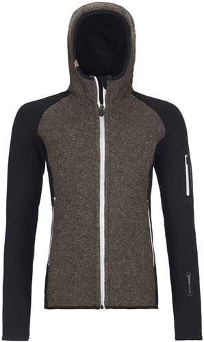 Ortovox Fleece Plus Classic Knit Hoody W black-raven XS