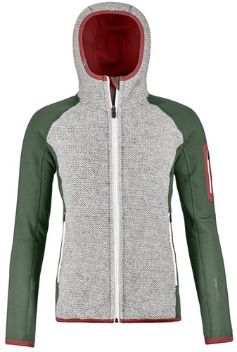 Ortovox Fleece Plus Classic Knit Hoody W green-forest L