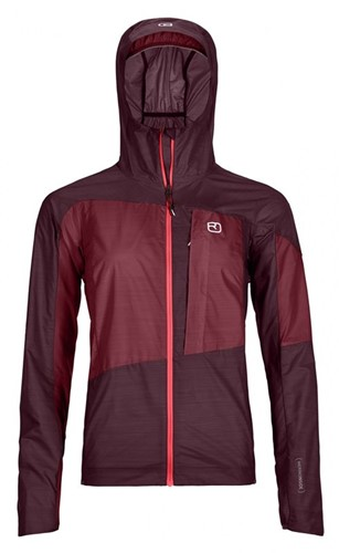 Ortovox Merino Windbreaker W dark-wine M
